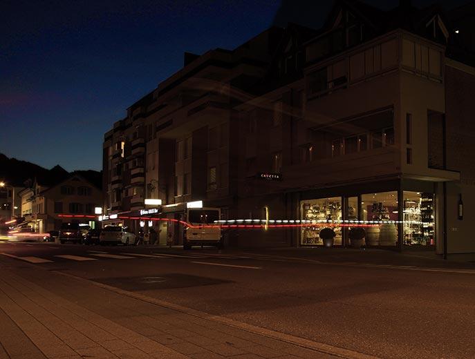Nightshopping in Siebnen.